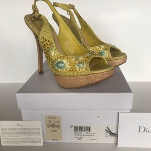 Authentic Christian Dior Slingback Sandals